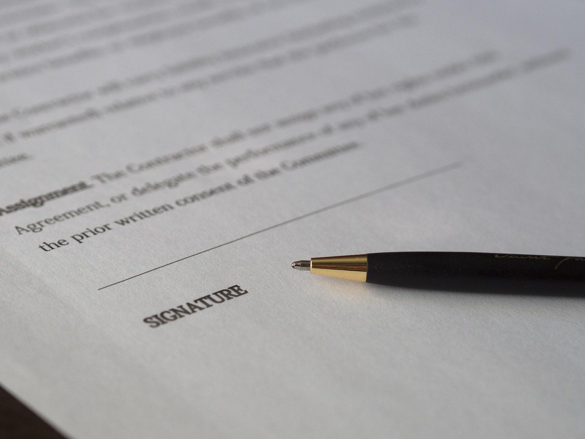 Ongetekend contract
