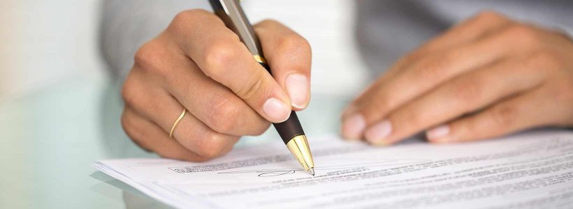 Contract tekenen